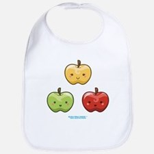 Kawaii Apple Trio Bib