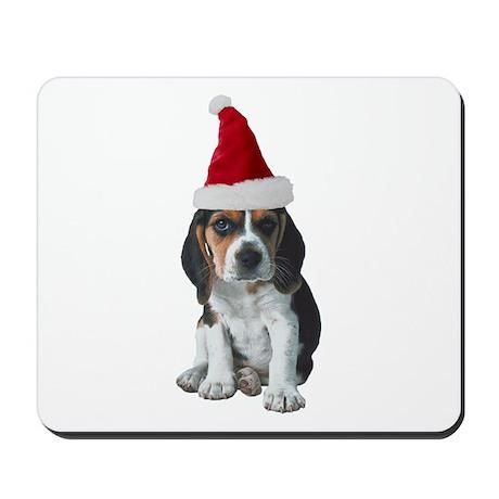 Beagle Santa Mousepad