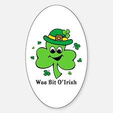 Wee Bit O' Irish Oval Decal