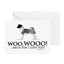 oddFrogg Akita Love Greeting Cards (Pk of 10)