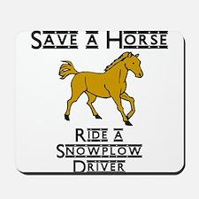 Snowplow Driver Mousepad