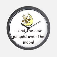 Cow Over The Moon Wall Clock