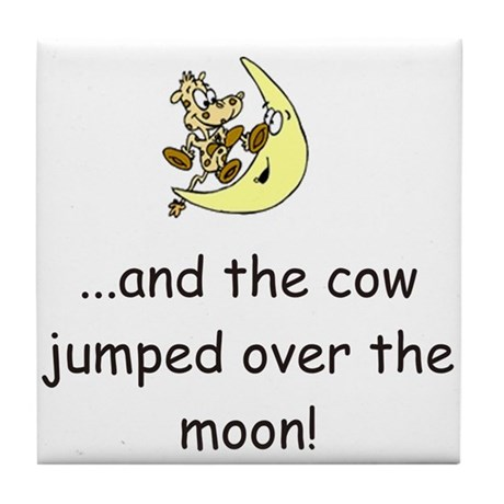 Cow Over The Moon Tile Coaster