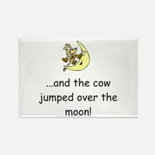 Cow Over The Moon Rectangle Magnet