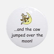 Cow Over The Moon Ornament (Round)