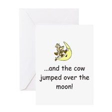 Cow Over The Moon Greeting Card