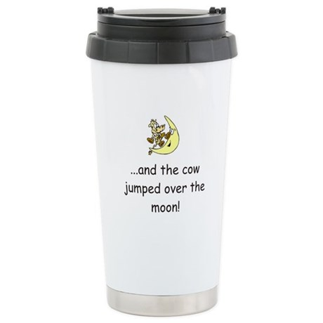Cow Over The Moon Stainless Steel Travel Mug