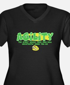 Dog is Better Agility Women's Plus V-Neck Dark T