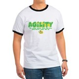 Funny agility Ringer T