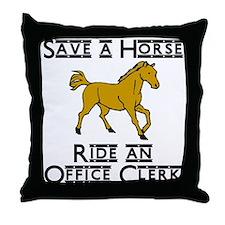 Office Clerk Throw Pillow