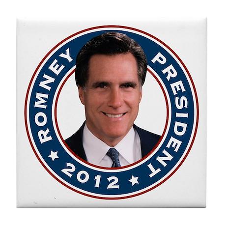 Mitt Romney President 2012 Tile Coaster