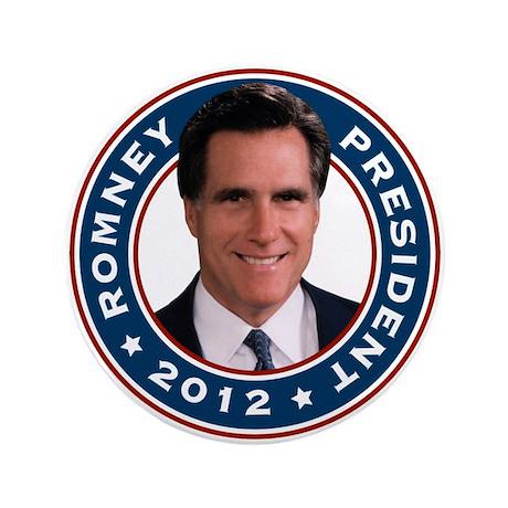 "Mitt Romney President 2012 3.5"" Button"