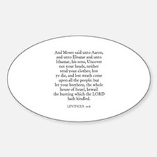 LEVITICUS 10:6 Oval Decal