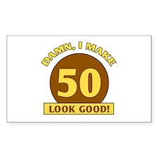 50th Birthday Gag Gift Rectangle Decal