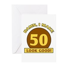 50th Birthday Gag Gift Greeting Cards (Pk of 10)
