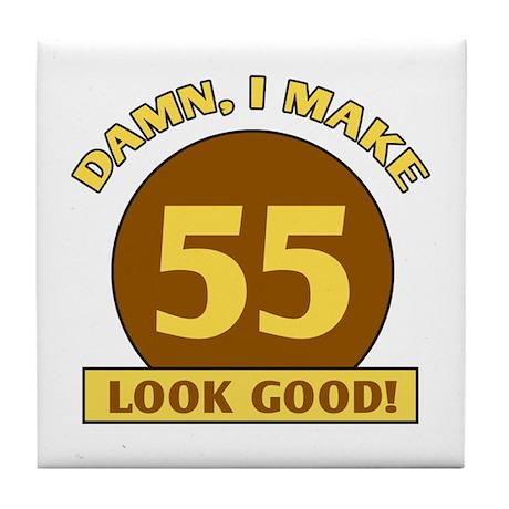 55th Birthday Gag Gift Tile Coaster