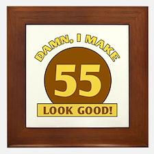 55th Birthday Gag Gift Framed Tile