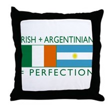 Irish Argentinian flag Throw Pillow