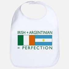 Irish Argentinian flag Bib