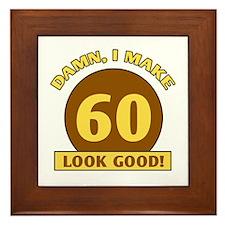 60th Birthday Gag Gift Framed Tile