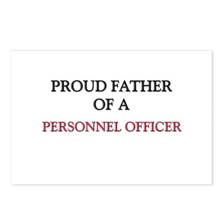 Proud Father Of A PERSONNEL OFFICER Postcards (Pac