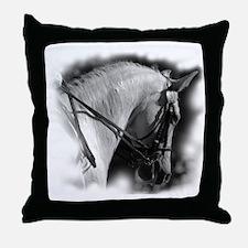Dressage horse Throw Pillow