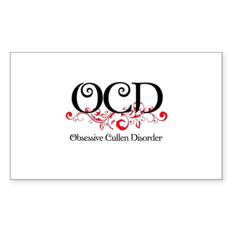 Obsessive Cullen Disorder Rectangle Sticker