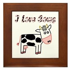 Cow Framed Tile