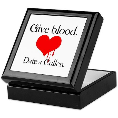 Give blood. Date a Cullen. Keepsake Box