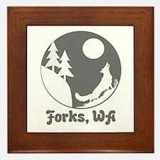 Forks, WA Framed Tile