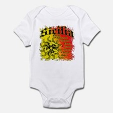The 9 Provinces of Sicily Infant Bodysuit