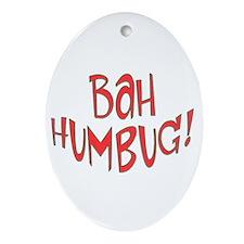 BAH HUMBUG Anti Christmas Tree Oval Ornament