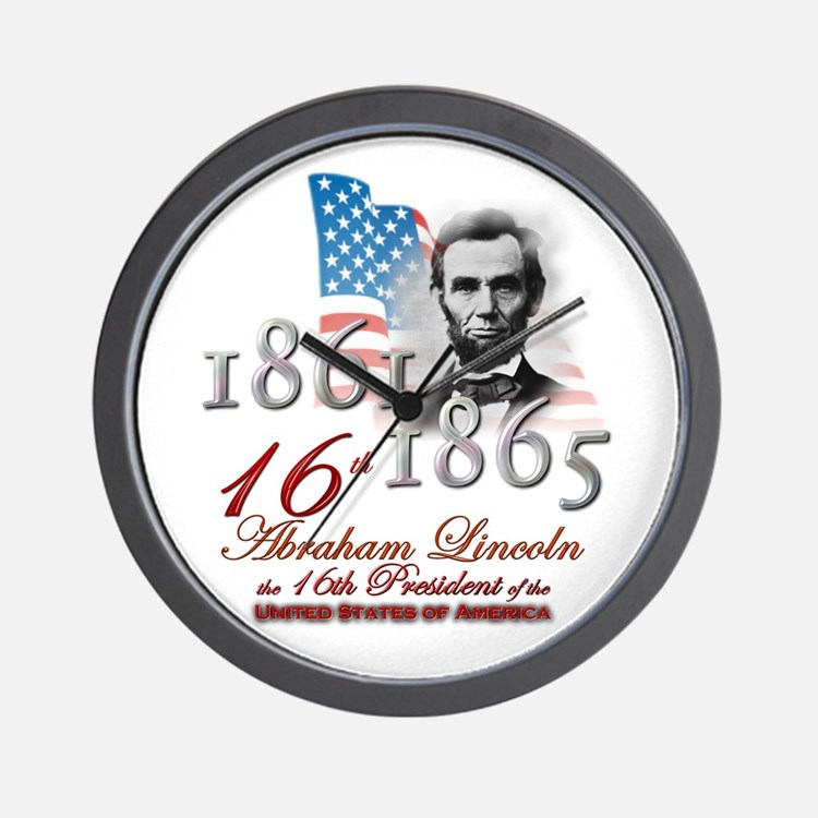 16th President - Wall Clock