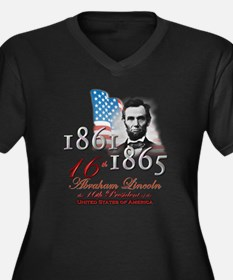 16th President - Women's Plus Size V-Neck Dark T-S