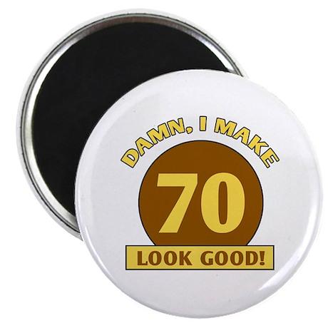 """70th Birthday Gag Gift 2.25"""" Magnet (100 pack)"""