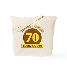 70th Birthday Gag Gift Tote Bag