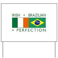 Irish Brazilian flag Yard Sign