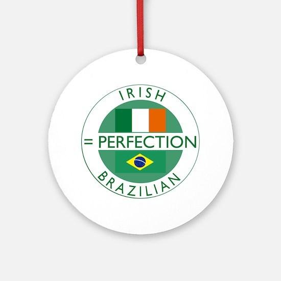 Irish Brazilian flag Ornament (Round)