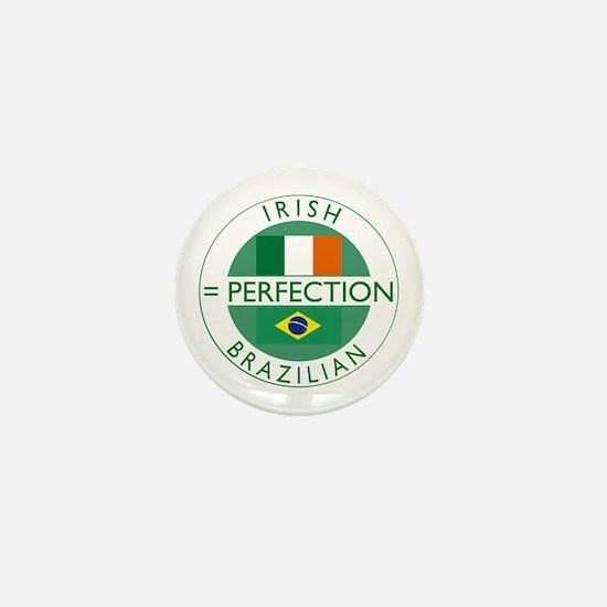 Irish Brazilian flag Mini Button