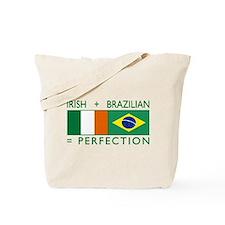 Irish Brazilian flag Tote Bag