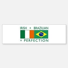 Irish Brazilian flag Bumper Bumper Bumper Sticker