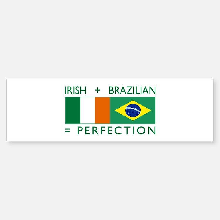 Irish Brazilian flag Bumper Bumper Bumper Sticker
