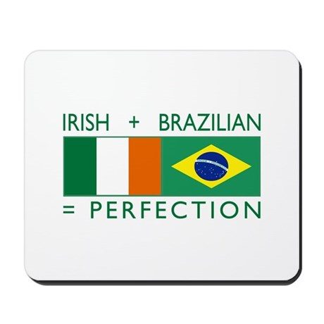 Irish Brazilian flag Mousepad