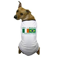 Irish Brazilian flag Dog T-Shirt