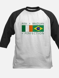 Irish Brazilian flag Kids Baseball Jersey