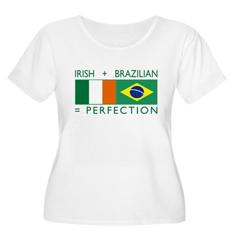 Irish Brazilian flag Women's Plus Size Scoop Neck