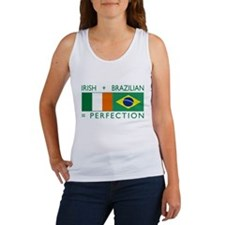 Irish Brazilian flag Women's Tank Top