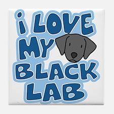 I Love my Black Lab Tile Coaster