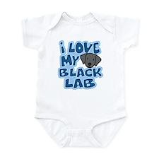 I Love my Black Lab Infant Bodysuit