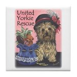 United Yorkie Rescue Tile Coaster